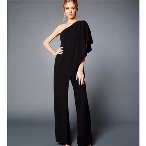 Adrianna papell flutter one shoulder jumpsuit